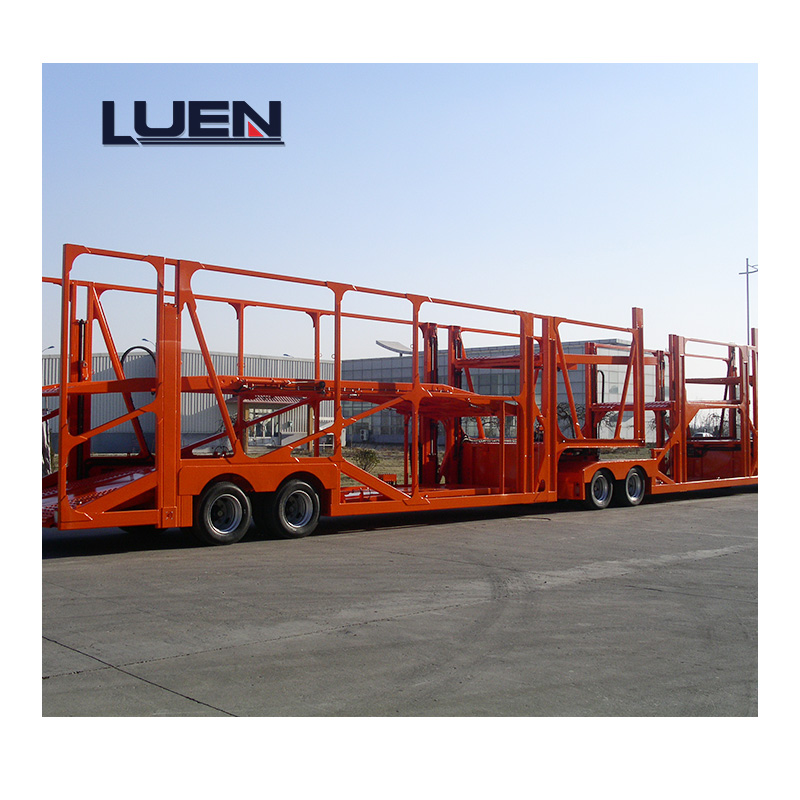 Direct Selling Car Carrier Skeletal Structure, Hydraulic Lifting Semi Trailer for 8 to 10 Cars