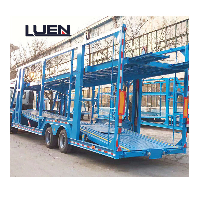 2Axles Double Deck Auto Car Carrier Semi Truck Trailer For 6-10 Cars Transport