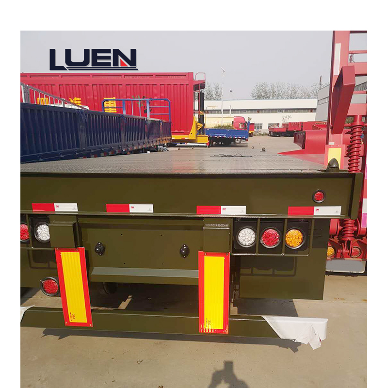 LUEN China Factory New Type Low Flat Semi Trailer Heavy Truck
