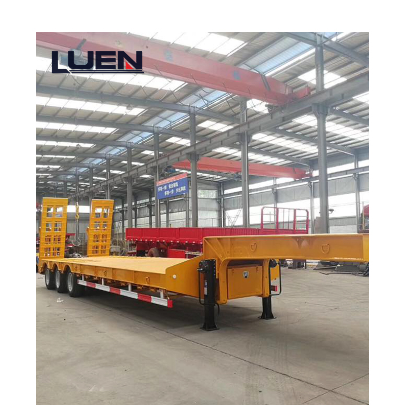 LUEN China 2/3/4 Axles Low Bed Semi-trailer Truck