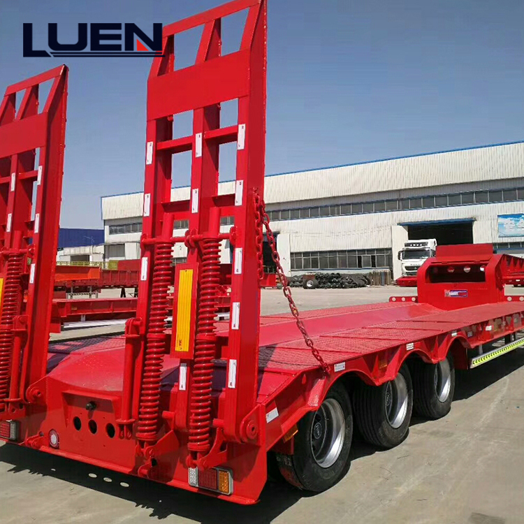 LUEN low bed semi trailer truck hot car trailer hauler for sale