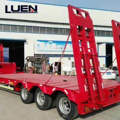 LUEN 3 Axle type Semi Trailer Lowbed trailer truck for sale in China
