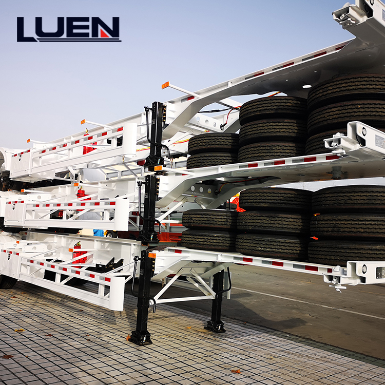 Luen Brand 2 3 Axles 20ft 40ft shipping Container Transport skeleton Trailer