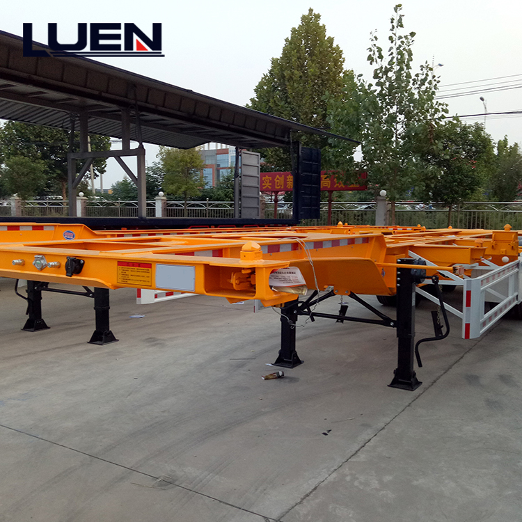 LUEN 20ft 40ft Container Skeleton Semi Trailer Truck