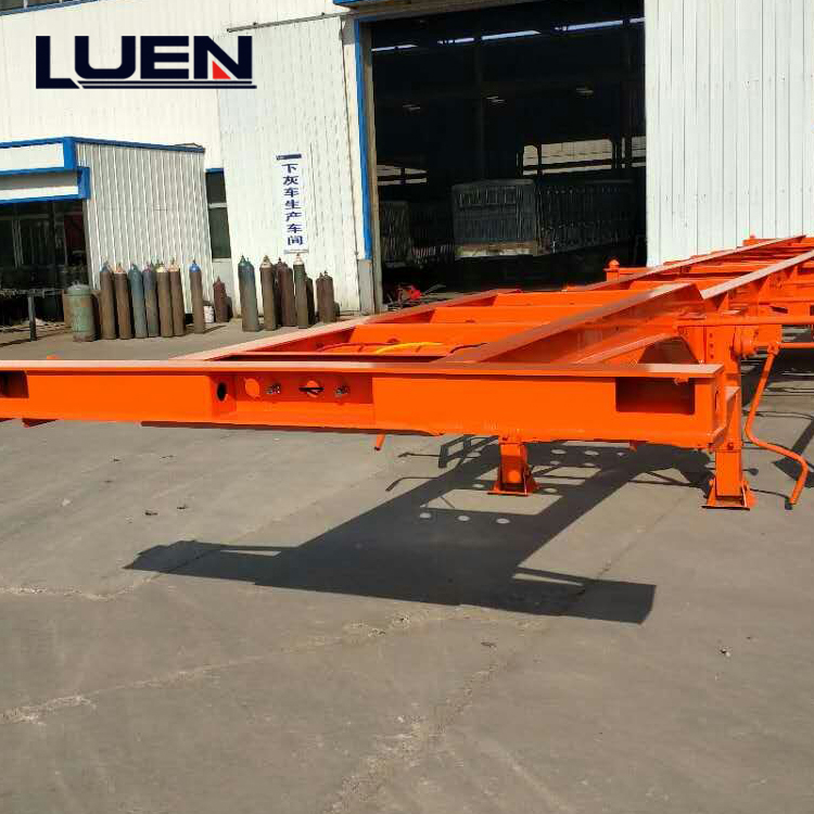 LUEN Trailer Skeleton Container Semi Trailer for Selling in China Factory