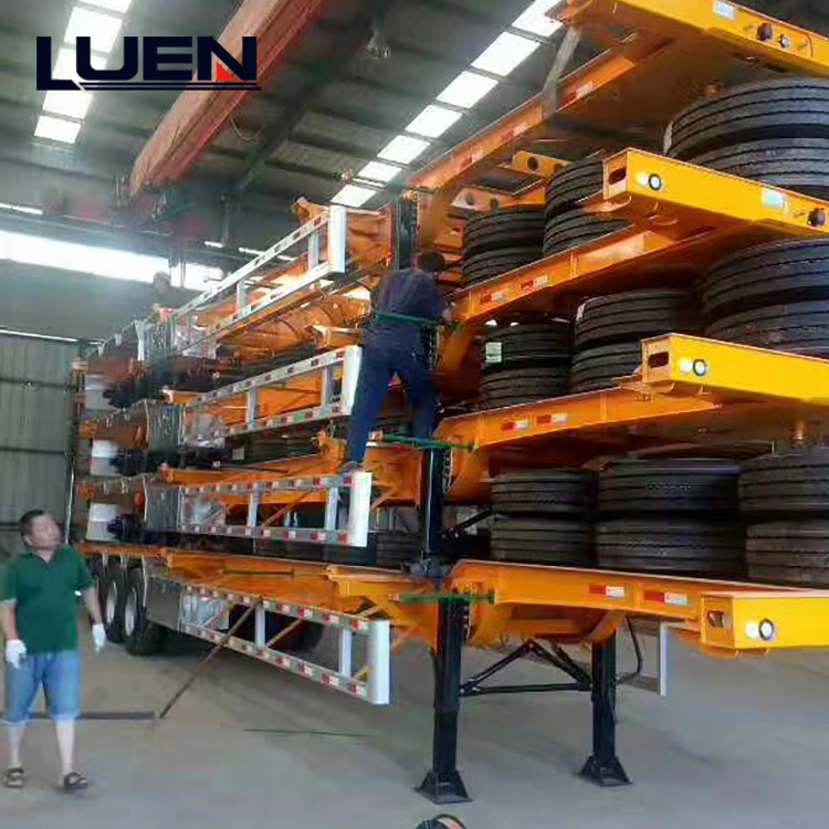 LUEN Large Transport Vehicle Skeleton semi trailer Truck for Heavy Equipment