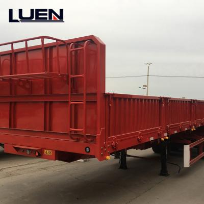 Factory 40ft Flatbed Platform Container carrier Semi Trailer