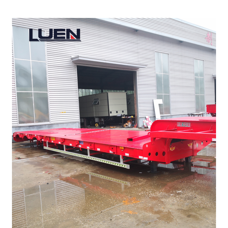 Heavy equipment transportation Low Bed semi-trailer