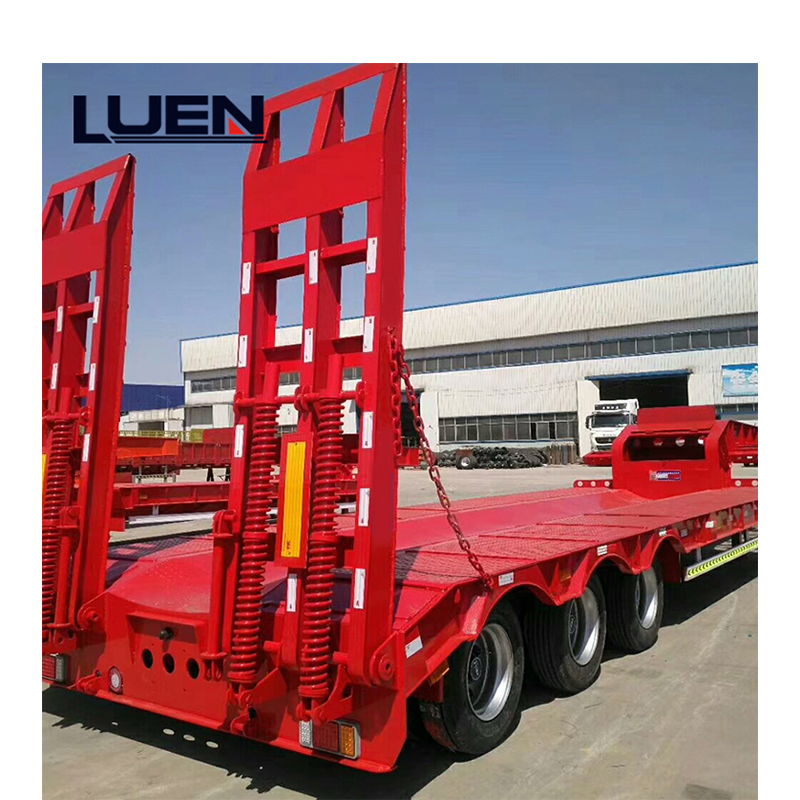 Introduction of heavy-duty low-bed semi-trailer and slat-type semi-trailer