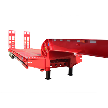LUEN Customer Customized Color Fuwa 3 Axles Low Bed Trailer Truck